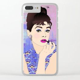 Iconic Audrey Hepburn Clear iPhone Case