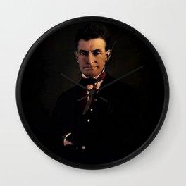 'Glory hallelujah, John Brown' Portrait by Jeanpaul Ferro Wall Clock