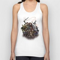 aragorn Tank Tops featuring The Happy Fellowship by Ginger Opal