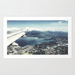 Puerto Princesa Aerial Art Print