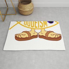 """Dudeism"" T-shirt Design Religion Philosophy Protaganist The Big Lebowski Chinese Taoism Garment Rug"