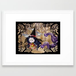 Walking to School Framed Art Print