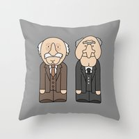 muppets Throw Pillows featuring Statler & Waldorf – The Muppets by Big Purple Glasses
