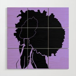 purple Wood Wall Art