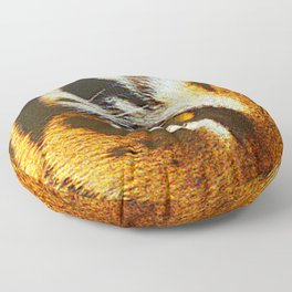 Real Tiger Eye! Up Close and Very Personal Floor Pillow