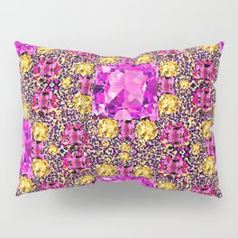 BEAUTIFUL FACETED PINK SAPPHIRES & CITRINES GEMS ART Pillow Sham