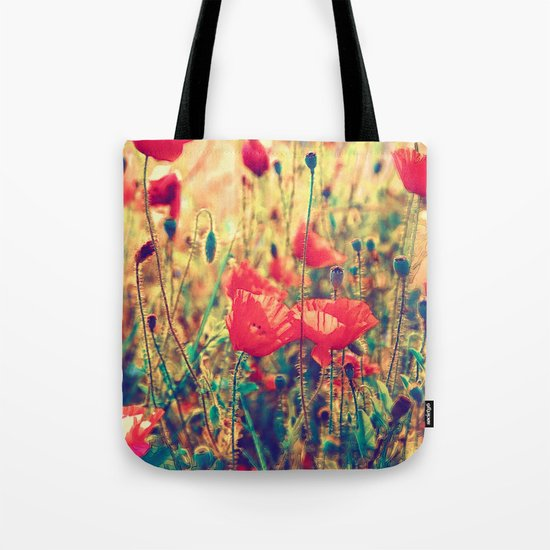 Morning Light - Poppy Field Tote Bag