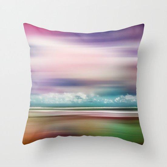 Rainbow-Scape Throw Pillow
