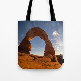 Sunset at Delicate Arch Tote Bag