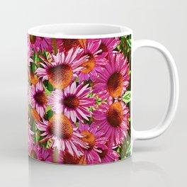 PINK ECHINACEA FLOWERS GARDEN MOSAIC PATTERN Coffee Mug