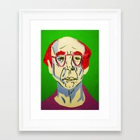 larry david Framed Art Prints featuring Larry David 2 by Alyssa Underwood Contemporary Art