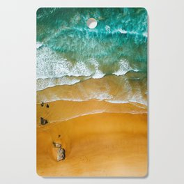 Ocean Waves Crushing On Beach, Drone Photography, Aerial Photo, Ocean Wall Art Print Decor Cutting Board