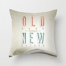 Poster (book & friend) Throw Pillow