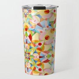 Pastel Geometric Travel Mug