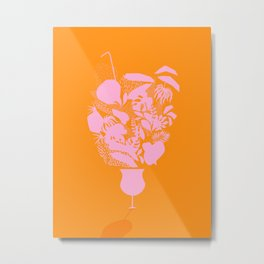 Sunny Tropical Cocktail #tropicalvibes #pattern Metal Print