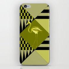 flamingo in green iPhone & iPod Skin