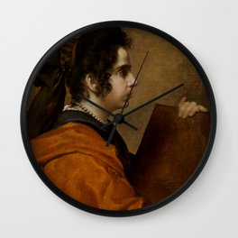 "Diego Velázquez ""A Sybil (Portrait of Juana Pacheco)"" Wall Clock"