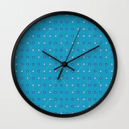 Circuitry Bluesy Blue Wall Clock