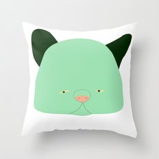 Pussy Verde Throw Pillow