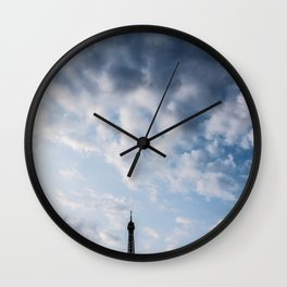 A Peek of the Eiffel Tower Paris France Wall Clock