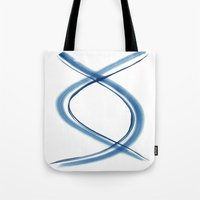 dna Tote Bags featuring DNA by Dena Carter