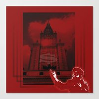 moscow Canvas Prints featuring Moscow by Nerve
