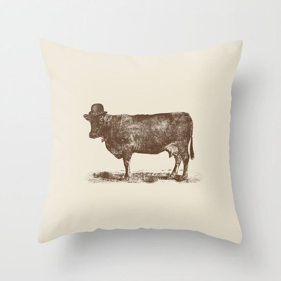 Cow Cow Nut #1 Throw Pillow