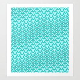 Japanese pattern turquoise Art Print