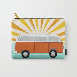 Peace, man - retro 70s hippie bus surfing socal california minimal 1970's style vibes Carry-All Pouch