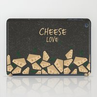 cheese iPad Cases featuring CHEESE LOVE by Ceren Aksu Dikenci