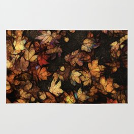 Late Fall Leaves 4 Rug