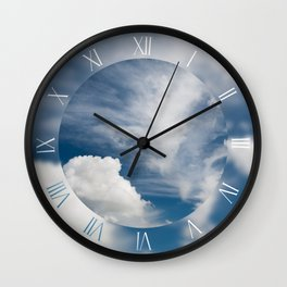 Cirrus and cumulus clouds formation Wall Clock