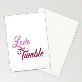 Live Love Tumble Gymnastics T-shirt Stationery Cards