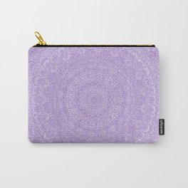 The Most Detailed Intricate Mandala (Violet Purple) Maze Zentangle Hand Drawn Popular Trending Carry-All Pouch