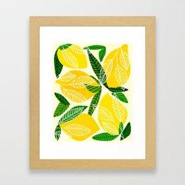 The Lemon Party II / Fruit Illustration Framed Art Print