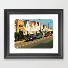 Pretty Houses In a Row ~ Chicago Framed Art Print