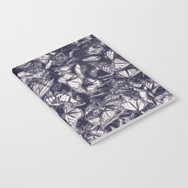 Indigo butterfly photograph duo tone blue and cream Notebook