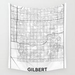 Minimal City Maps - Map Of Gilbert, Arizona, United States Wall Tapestry