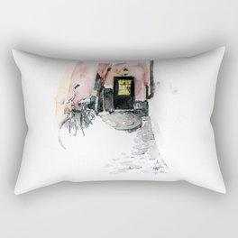 Winter street Rectangular Pillow