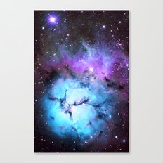 Blue Floral Nebula Canvas Print