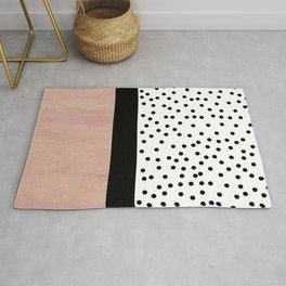 Pink marble and dots Rug