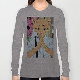 Kitten Monk Long Sleeve T-shirt