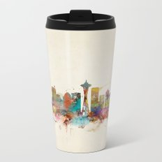 seattle washington  Metal Travel Mug