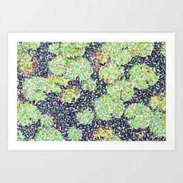 Pointilized Lily Pads Art Print
