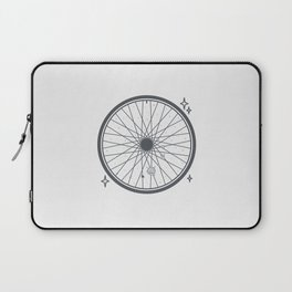 Bicycle rim with the solar system Laptop Sleeve