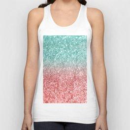 Summer Vibes Glitter #2 #coral #mint #shiny #decor #society6 Unisex Tank Top