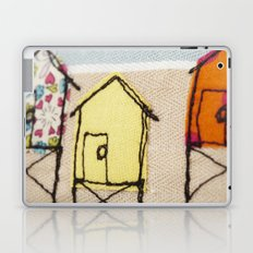 Embroidered Beach huts Laptop & iPad Skin