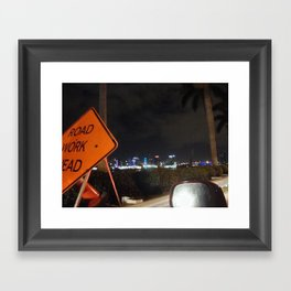 Road Work Ahead Framed Art Print