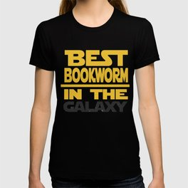 Best Bookworm In The Galaxy Funny Gift T-shirt