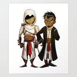 Altaïr and Malik Art Print